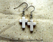 From USA Natural Cross  Earrings - Surgical Steel French Hooks