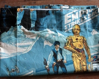 1979 Star Wars Curtain Panel // The Empire Strikes Back // 70s 80s Memorabilia // George Lucas Film Curtains // Star Wars Fabric