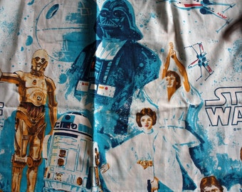 1977 Star Wars Curtain Panel // A New Hope // 70s 80s Memorabilia // George Lucas Film Curtains // Star Wars Fabric