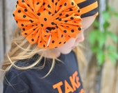 Monster Mash Halloween Messy Bow Head Wrap - Cozy Cotton