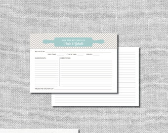 Personalized Recipe Cards - Bridal Shower Recipe Cards - Bridal Shower Gift Personalized Printable File or Print Package - #00007-RC