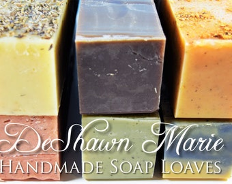 SALE SOAP - 4 assorted 3lb Cold Processed Soap Loaves, Wholesale Soap Loaves, Natural Soap Loaves
