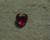 Heart Cut Red Ruby Cubic Zirconia Loose Stone CZ Heart