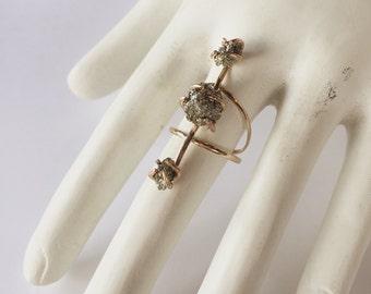 14k Goldfill Pyrite Ring