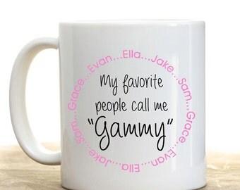 Personalized Grandma Mug, Grandmother Gift , Mothers Day Gift, Grandmothers Gift, Personalized Gift, Christmas Gift, Birthday Gift
