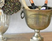 Champagne Bucket Beverage Holder Tub French Champagne Wine Cooler Trophy Barware Gold Ice Bucket Vintage Wedding Event Decor Vintage Wedding