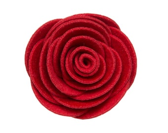 Red Kitty Corsage - Ultrasuede® Removable Collar Flower