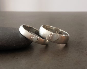 Avatar Wedding Band - Sterling Silver or 14kt gold, 4mm or 6mm - The Last Airbender, Aang, Geeky Wedding Ring