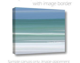 Ocean Photography-Water & Sky-Blur-Nautical Art-Abstract Art-Fine Art-Photography on Canvas-Coastal Decor-Beach Wall Art-White-Teal-Blue Art