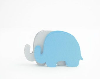 24 Elephant die cut (3.5 x 2.5 inches) Set of 24 Textured Cardstock die cut  A411