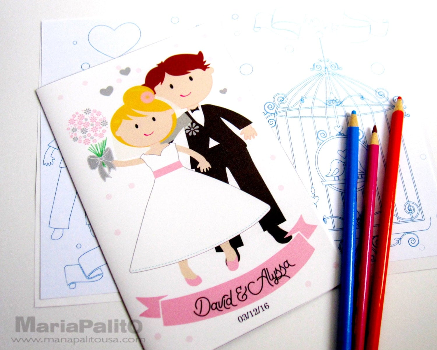 6 Wedding Coloring Books Childrens Activity Booklet