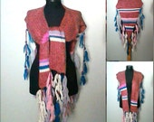 ale! Boho Scarf Knit Wool Scarf Triangle Fringe Shawl Shoulder Wrap Ethnic Scarf Women's Fashion Scarves Gift For Her   Valentine's Day Gift