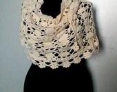 Sale! Crochet Bolero Shoulder Wrap Cowl Neckwarmer Poncho Winter Knits Crochet Skirt Gift For Her   Valentine's Day Gift
