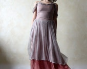 Alternative wedding dress, bridal gown, colored wedding dress, boho wedding dress, pink wedding dress, chiffon dress, fairy wedding dress