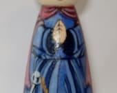 St. Philomena wooden doll