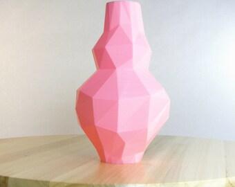 bubblegum pink vase 3d pink polygon pink decor pink bubble gum