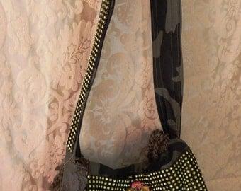 "Gypsy Mae Designs ""Cindi"" bag....Funky Hobo bag with Camo and rhinestones"