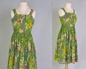 Vintage Sleeveless Dress 60s Designer Miss Elliette Tea Dress XS S