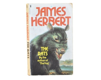 1980 Paperback. The Rats, by James Herbert. Horror. Thriller. Chiller. Fiction. Book.