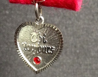 You always. French sweet heart statement pendant.