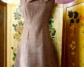 Vintage 60'd MOD  Chestnut Corduroy Dress
