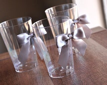 40th Decoration Party Cups 10CT.  Ships in 2-5 Business Days.  Party Cups with Silver Bows.