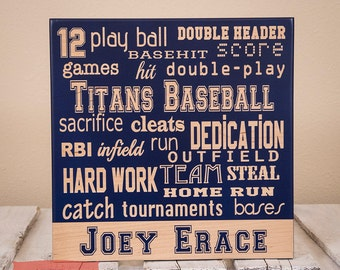 Sports Decor -Personalized Sports Collage-Player-Team-Logo-Wood Engraved-Color of Your Choice-Baseball Gift-Player Gift-Coach Gift-Team Gift