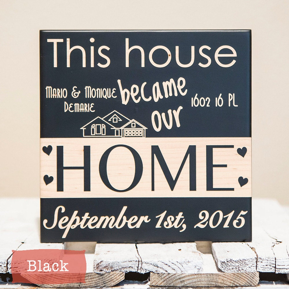 New home sign new home housewarming gift personalized for New home sign