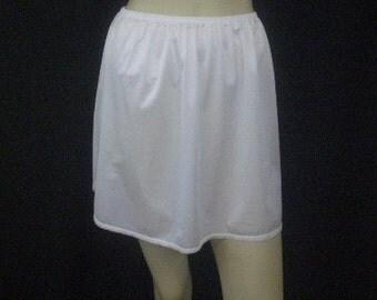 Miniskirt Half Slip Vintage 1970's Micro Mini Short Slip