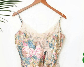 Vintage Victoria's Secret lace  camisole crop top lingerie night shirt