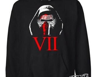 SALE--Save 6 Dollars! Star Wars Hoodie XL only. Kylo Ren in The Force Awakens. Soft Cotton Star Wars VII Hoodie. Regular Price 38 Dollars.