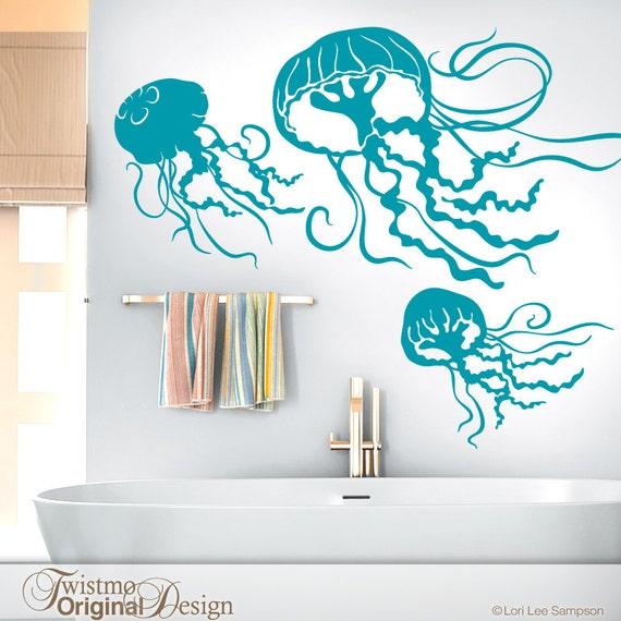 Under the sea beach decor bathroom wall decor sea life wall for Under the sea bathroom ideas