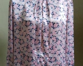 "Vintage Worthington Long Sleeved Multi Colored Floral Print Blouse Bust 44"" Waist 41"" Hips 42"""