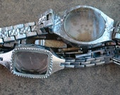 Wrist watch bracelets with empty cases -- set of 2