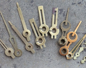 Assorted vintage clock hands -- set of 12 -- D7