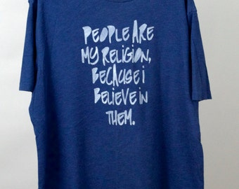 FREE US SHIPPING Men's XLarge: People Are My Religion