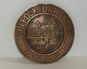 Free Shipping Suffolk University Copper Plaque 1937