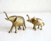 Two Lucky Brass Elephants