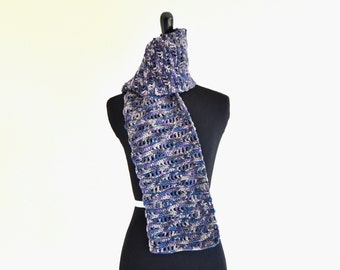 READY TO SHIP Alpine Scarf, One of a Kind, Beautiful Gift, Women's Fashion Scarf, Gift for Mom, Wife, Handmade Anniversary Gift
