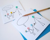 Love You Grandad Card - Add Your Own Message Button Card - Fathers Day Card - Grandads Birthday Card - Card from Grandchildren