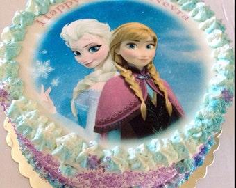 Frozen Birthday Cake, Frozen Edible Image Cake