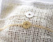 Compass Bracelet in Gold / Silver. Fun Jewelry. Modern Jewelry. Travel Souvenir. Unisex Gift (PBL- 27)
