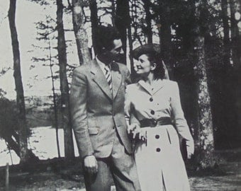 Vintage 1940's Photo - Couple Holding Hands