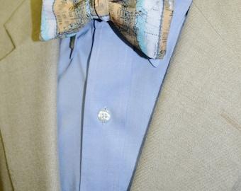 Chicago Chart Map Men's Bow Tie or Necktie, Self-tie Bow Tie, Pre-tied Bow Tie, Adjustable Bow Tie, Map Bow Tie, Wedding Bow Tie