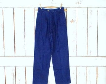 80s  Liz Claiborne high waisted tapered leg dark blue denim vintage jeans/6