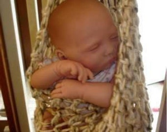 PDF Crochet Pattern,  P3 - Hanging Pod Cocoon pattern-Baby-infant-crochet - easy to make - PDF