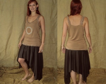 UpcYclED Flower of life lace top M-L beige