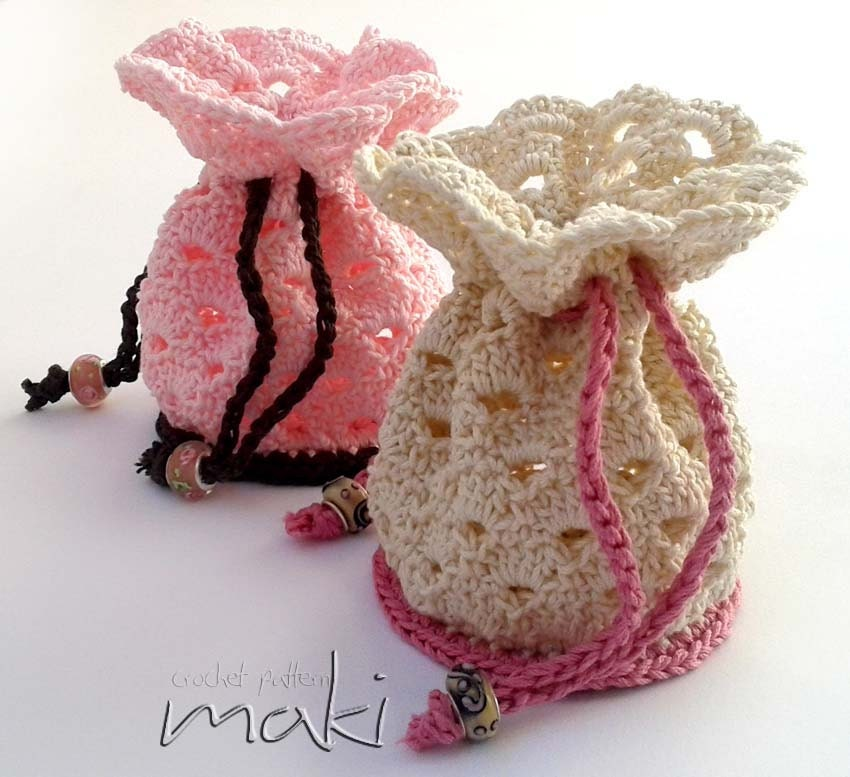 Crochet pattern Small pouch bag crochet pattern Permission