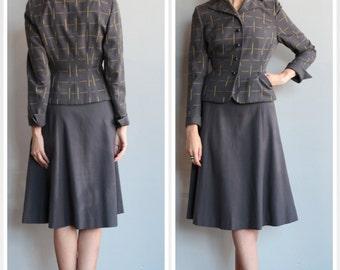 1940s Suit // Skyscraper Wool Suit // vintage 40s 2pc suit