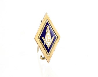 Antique Masonic Pin 9K Gold -1895